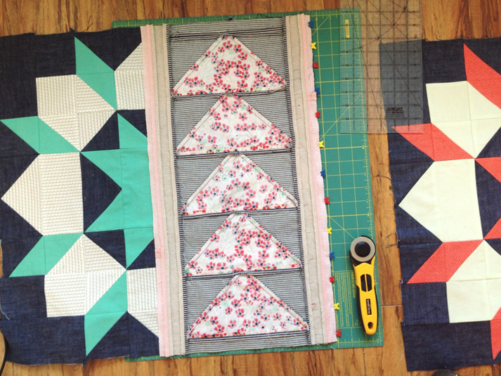 picnic quilt piecing